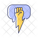 Strong Solid Argument Icon