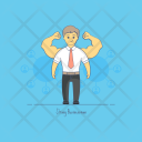 Strong Businessman Icon