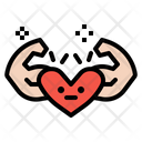 Healthy Strength Strong Health Heart Icon