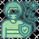 Strong Immunity Shield Mask Icon
