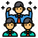 Teamwork Strong Collaborate Icon