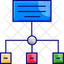 Infographicm Structure Data Flow Icon