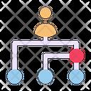 Structure Organization Hierarchy Network Icon