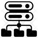 Structured Data Database Network Shared Datacenter Icon