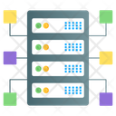 Structured Data Database Network Shared Datacenter Icon