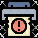 Stuck Paper Icon