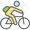 Student On Bicycle Icon