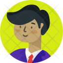 Student Man Business Icon