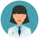 Medical Student Woman Icon