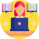 Education Virtual Learning Student Icon