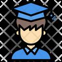 Student Graduated Boy Icon