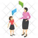 Student And Teacher Study Time Education Icon