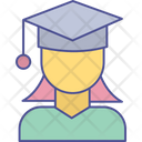 Girl University Education Icon