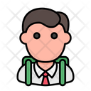 Student School Man Icon