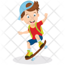 Student on Skateboard Icon