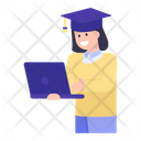 Student Online Education Icon