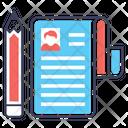 Student Profile Learner Biodata Student Resume Icon