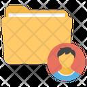 Student Profile Student Data File Folder Icon