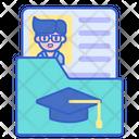 Student Profile Student Biodata Id Card Icon
