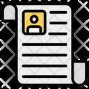 Student Profile Biodata Personal Information Icon