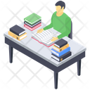 Student Reading Learning Lesson Study Table Icon