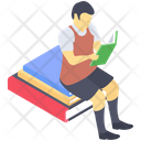 Student Reading Student Homework Pupil Working Icon