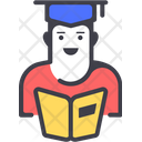 Student Reading Student Education Icon