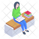 Student Student Reading Book Reading Icon