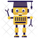 Student Robot Mechanical Robot Bionic Man Icon