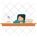 Student Sleeping In Class Icon