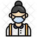 Student Waring Mask Student Face Mask Icon