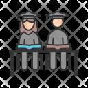 Students Sitting Icon