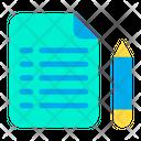 Pen Pencil Paper Icon