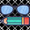 Study Pencil Glasses Icon