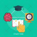 Study Time Education Icon