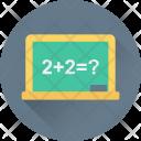 Math Class Chalkboard Icon