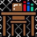 Desk Lesson Teacher Icon
