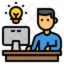 Study Elearning Computer Icon