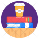 Books Coffee Study Refreshment Educational Refreshment Icon