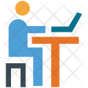 Education Computer Table Icon