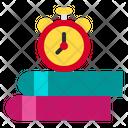 Clock Books School Icon
