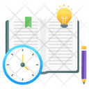 Study Time Education Time Reading Time Icon