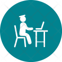 Studying Laptop Study Icon