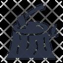 Axe Tree Stump Icon