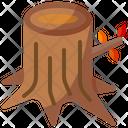Stump Tree Wood Icon