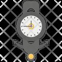 Stylish Clock Icon