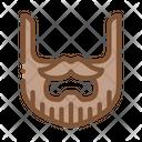 Beard Hipster Face Icon