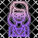 Stylist Woman Icon