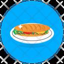 Sub Sandwich Breakfast Fast Food Icon