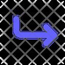 Subdirectory Arrow Arrow Corner Down Right Alt Icon